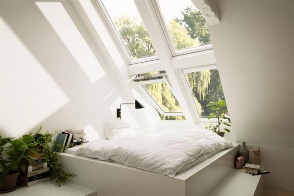 Nuova Serie di Finestre #Velux in legno bianco. Dai ancora più luce all'interno di una stanza. SCONTI DEL 60% SU TUTTA LA SERIE!