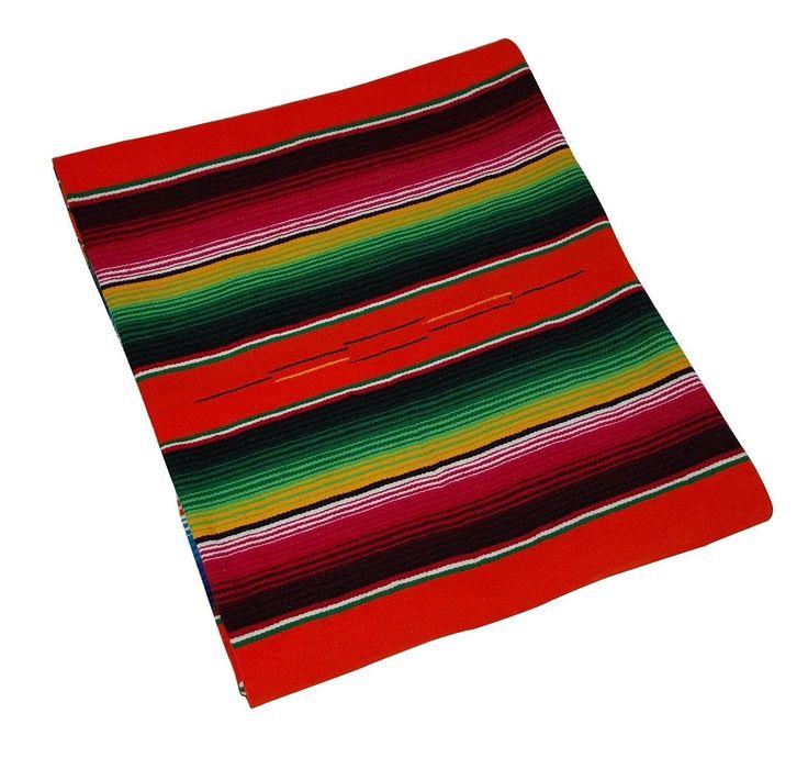 #fashion #collectibles 203 Fine Sarape Mexican Blanket Authentic Original El Paso Orange Bright Crush: Incazteca Fair Trade… #memorabilia