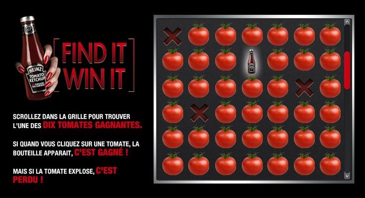 Heinz - Jeu Instant gagnant  http://www.facebook.com/heinz.ketchup.france  + de 24 000 participants