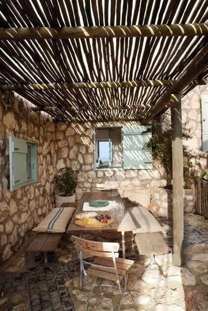 Techo ca izo terraza hogar pinterest terraza jardin - Canizo para jardin ...