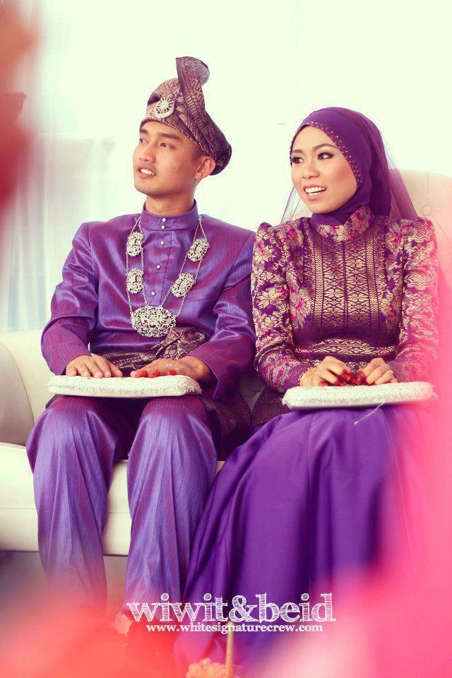 Nabelle Erwani of Malaysia | Traditional Malay wedding dress with songket