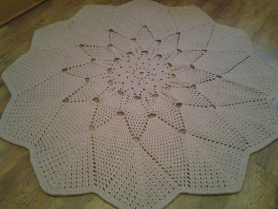 Crochet doily round rug 787''200 cmMade to by AnuszkaDesign
