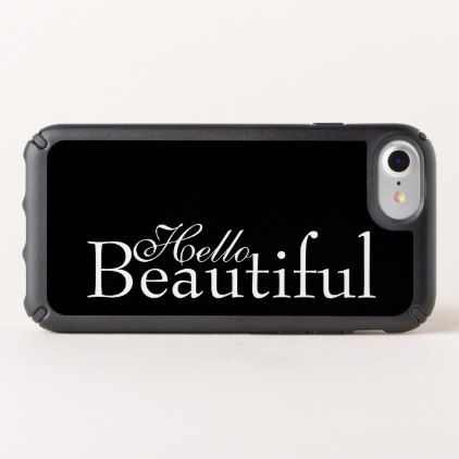 Hello Beautiful Black & White Love Quotes Speck iPhone Case - calligraphy gifts custom personalize diy create your own