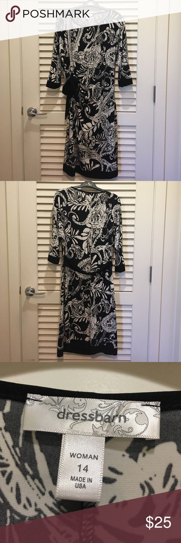 Black and white jersey dress Black and white jersey dress good for any occasion Dress Barn Dresses Midi
