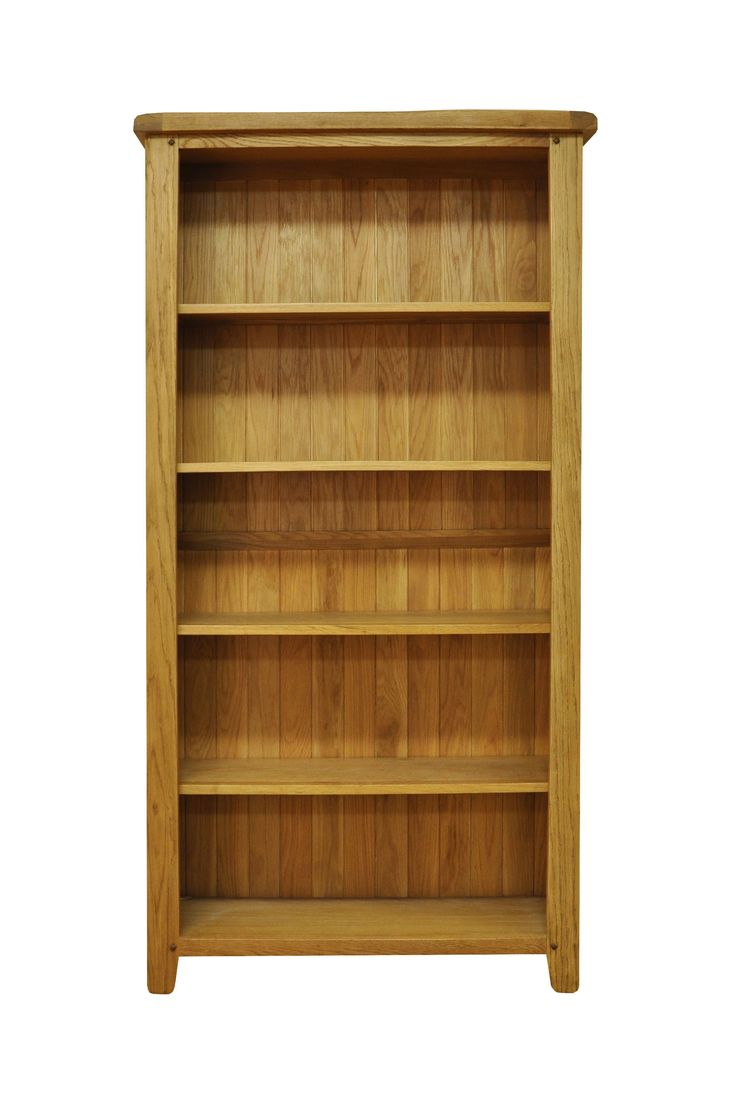 Kaldors Stamparine Waxed Oak Finish Large Wide Bookcase is perfect for  Accommodating apartments, starter homes