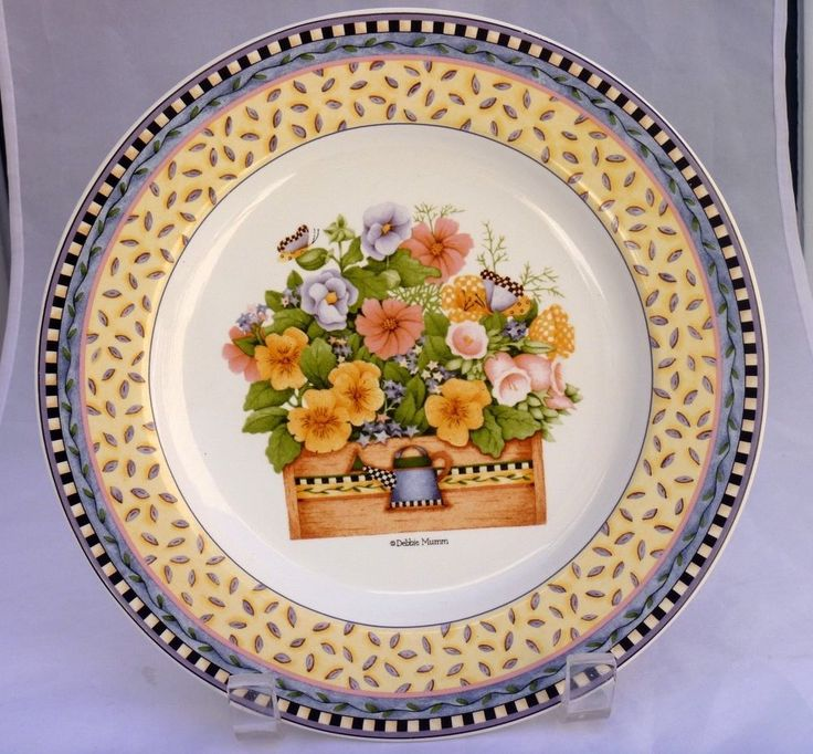 Spring Bouquet Sakura Stoneware Plate Pansy Patternby Debbie Mumm. Find this Pin and more on Dinnerware u0026 Serving Dishes ...  sc 1 st  Pinterest & 105 best Dinnerware u0026 Serving Dishes images on Pinterest | Serving ...