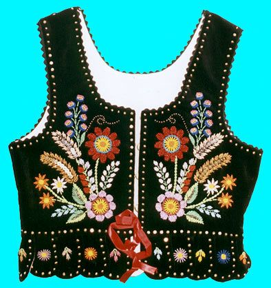 Embroidered vest - front - Polish
