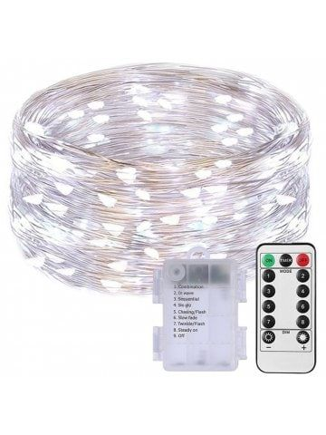 100 Led String Fariy Lights Battery Operated Waterproof with Remote