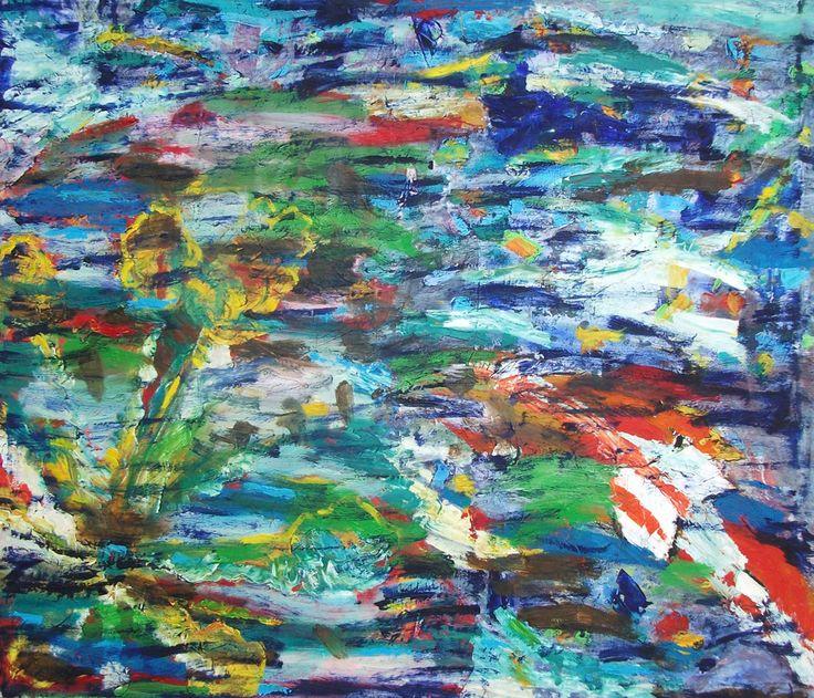 "obraz ""RAFA KORALOWA"", Katarzyna Matschay / painting ""CORAL REEF"", Katarzyna Matschay"
