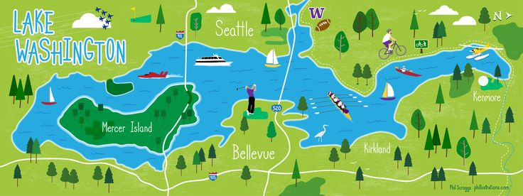 Lake Washington, Seattle, Washington by Phil Scroggs
