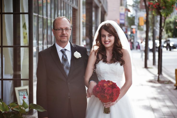 Bride and her father.   Toronto, ON, Canada Wedding