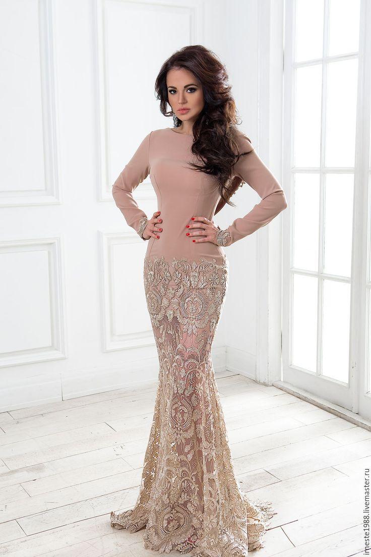 """Купить Вечернее платье """"Миранда"""" - платье в пол, платье со шлейфом, вечернее платье"""