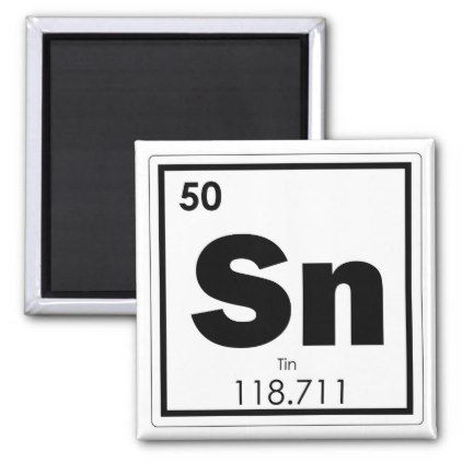 The 25 best tin chemical symbol ideas on pinterest physical tin chemical element symbol chemistry formula geek magnet urtaz Images