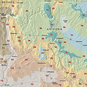 Sunset climate zones: Arizona