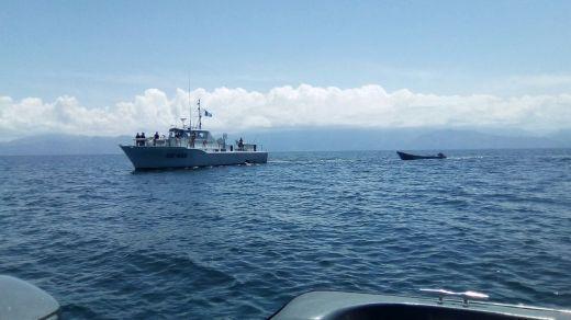 Guatemala y Honduras patrullan sus aguas fronterizas contra el narcotráfico . Las fuerzas navales de Guatemala y Honduras realizaron patrullajes en aguas fronterizas. Foto: Secretaría de la Defensa de Honduras.