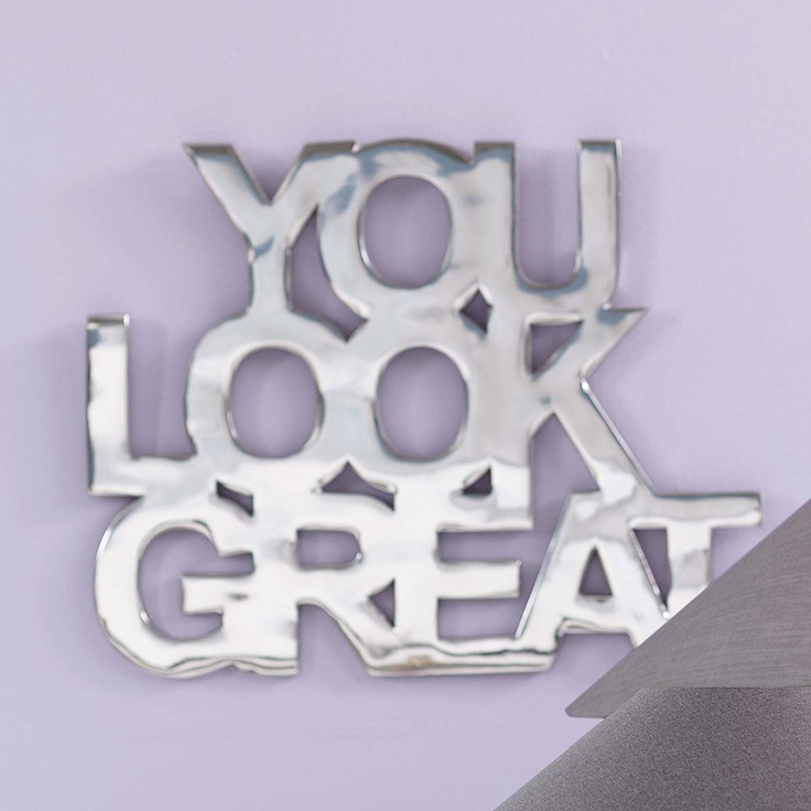 schriftzug you look great impressionen quote