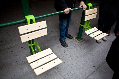 Pop-Up Parks: Brackets Turn Scaffolding into Furniture | Urbanist