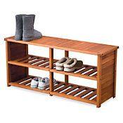 outdoor shoe bench organizer garage outdoor living pinterest. Black Bedroom Furniture Sets. Home Design Ideas