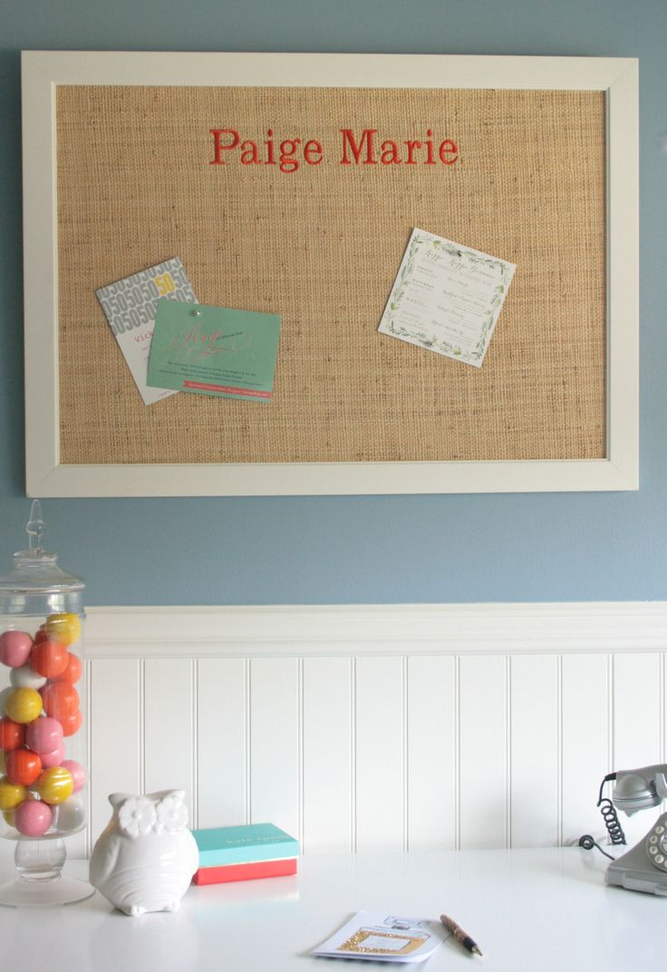 preppy bulletin board perfect for a dorm room or kids