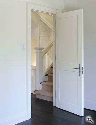 Interior Doors | white two-paneled interior door | Bayer Built Woodworks
