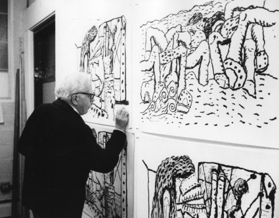 essay on philip guston Philip guston: painter allows us to focus on the formal: the touch, the  emptying  the canvas not just of color, but of structured composition.