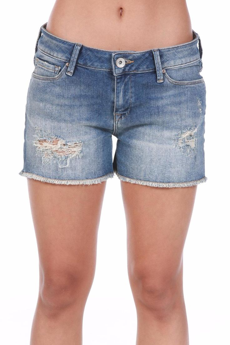 "Get your warm-weather look in high gear with these flirty thigh high shorts. Premium denim gets a cool update with a raw hemline and our signature distressing that defines a laidback, effortless style.    Inseam 3""   Emily Vintage Short by Mavi Jeans. Clothing - Shorts - Denim Louisiana"