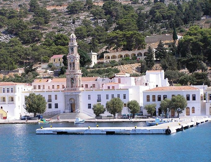 Panormitis seaside village on the island of Symi  www.callgreece.gr