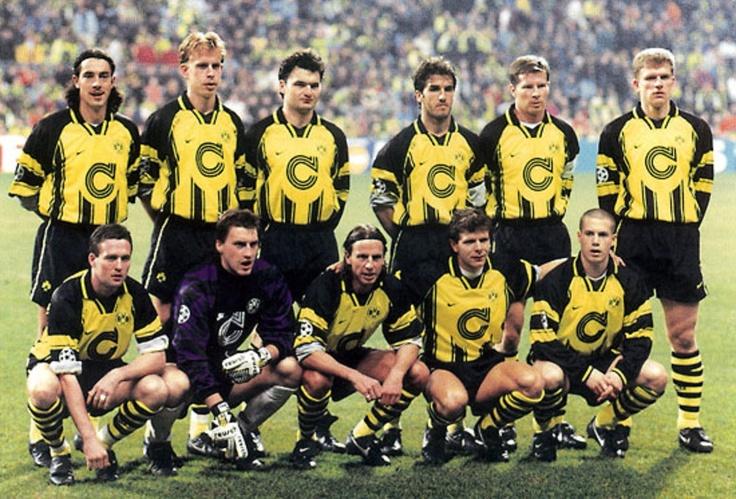 (1996) Paulo Sousa, Jörg Heinrich, Stéphane Chapuisat, Karlheinz Riedle, Stefan Reuter, Martin Kree,Paul Lambert, Stefan Klos, Wolfgang Feiersinger, Andreas Möller, Lars Ricken.