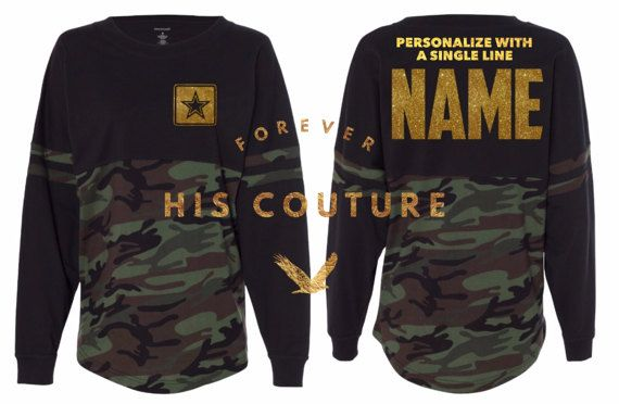 Army w/ NAME oversize Jersey Army Girlfriend by ForeverHisCouture
