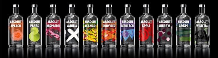 Absolut has released new designs for its entire range of flavoured vodkas, artistically expressing the core essence of each flavour. The re-designed bottles include Absolut Apeach, Absolut Pears, Absolut Raspberri, Absolut Vanilia, Absolut Mango, Absolut Ruby Red, Absolut Berri Açaí, Absolut Äpple, Absolut Cherry, Absolut Gräpe, Absolut Wild Tea and Absolut Cilantro.