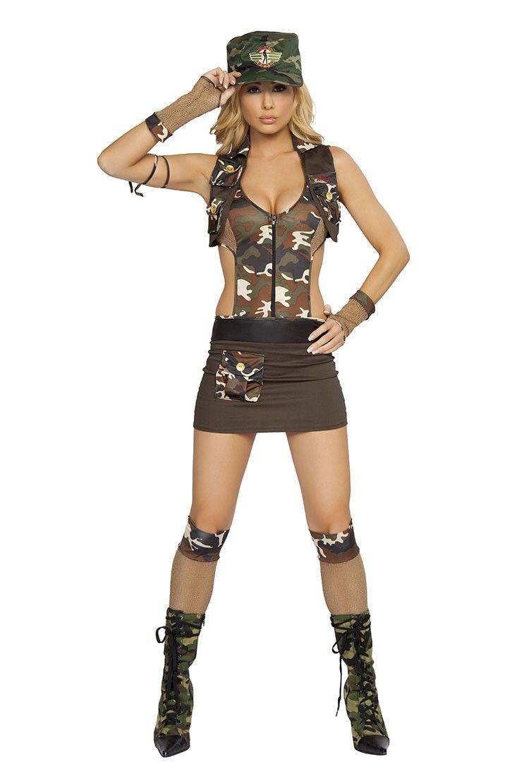 includeszipperfrontdresswithpocketshat - Soldier Girl Halloween Costume