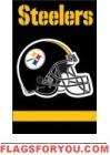 """Steelers Applique Banner 44"""" x 28"""""""