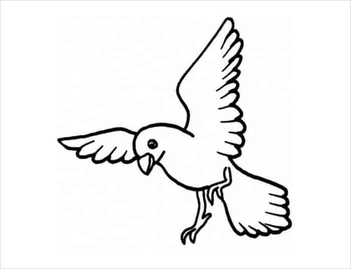 Flying Bird Coloring Pages In 2020 Bird Coloring Pages Dinosaur Coloring Pages Space Coloring Pages
