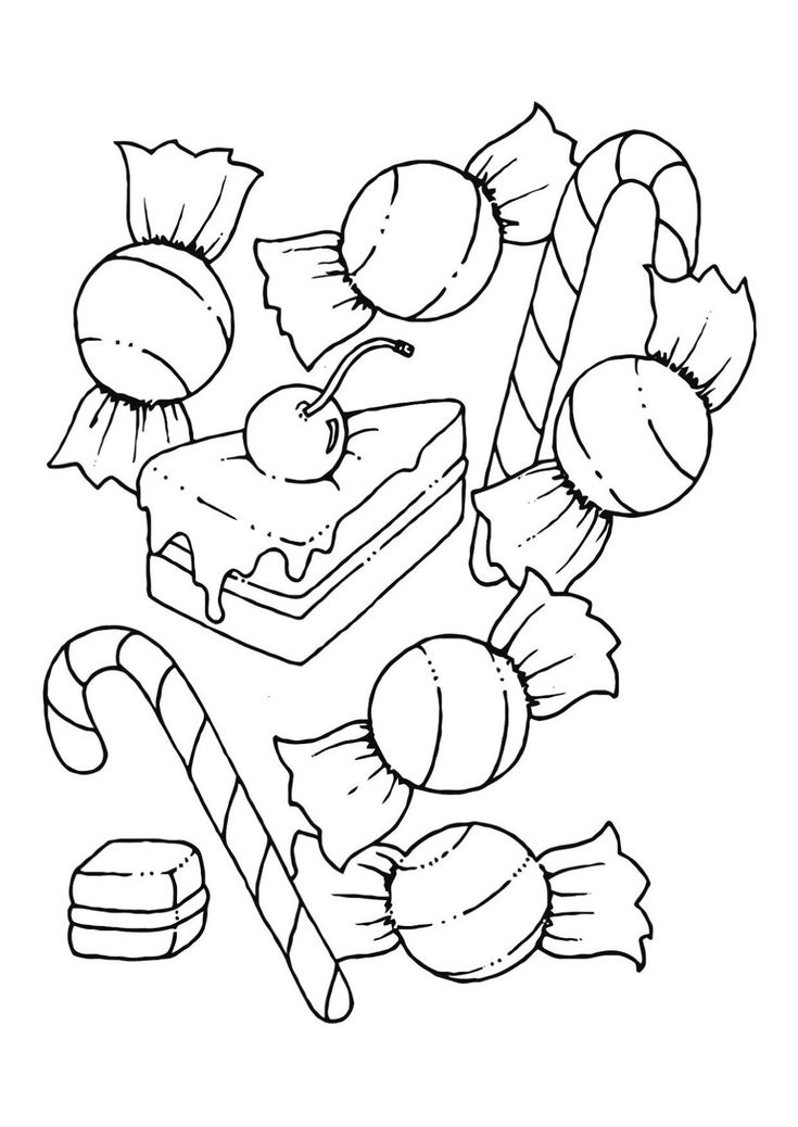 Printable Candyland Coloring Pages In 2020 Candy Coloring Pages Food Coloring Pages Coloring Pages
