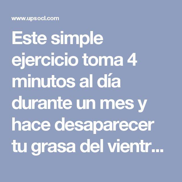 Este simple ejercicio toma 4 minutos al día durante un mes y hace desaparecer tu grasa del vientre   Upsocl