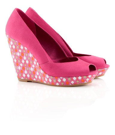 : Pretty Shoes, 34 95, Pink Wedges, Pretty Pink, 3495 Shoes, Pink Pumps, High Heels, Peeps Toe Wedges, Summer Essential