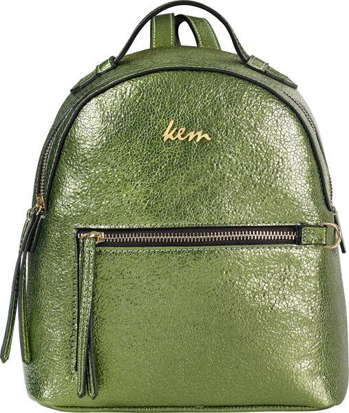 Kem back pack metallic green boutique #papakfroufrou
