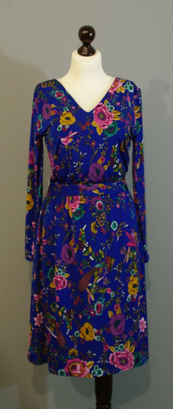 Расклешенное платье цвета индиго дизайнера Юлии, Платье-терапия Киев (41)