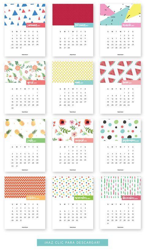 FREE printable Calendar 2017  Follow me @prodanbenoli for more pins - I'll follow back!