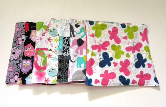 Reusable Wipes Girl Reusable Wipes Cloth by TheCreativeRaccoon