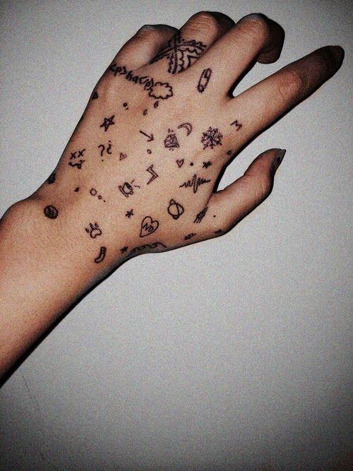 Cute Little Hand Tattoos. ~little