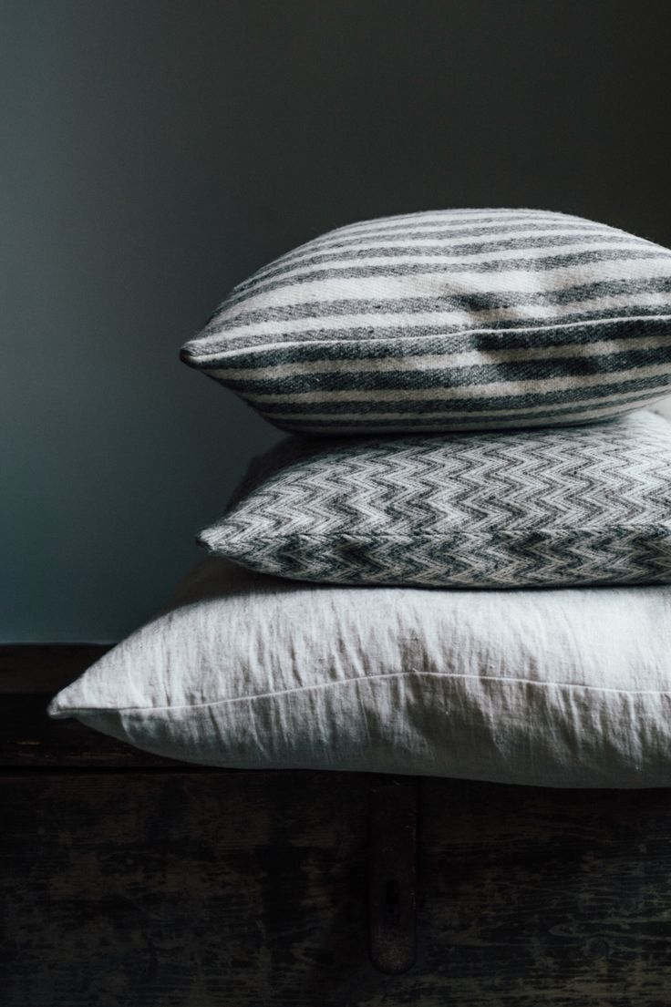 Linen and wool pillows! By molle And mexchic.    Paperbag