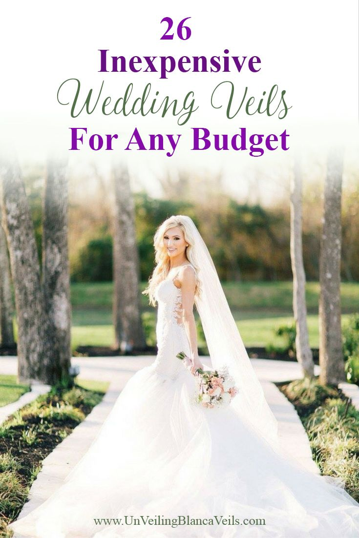 26 Inexpensive Wedding Veils Under 100