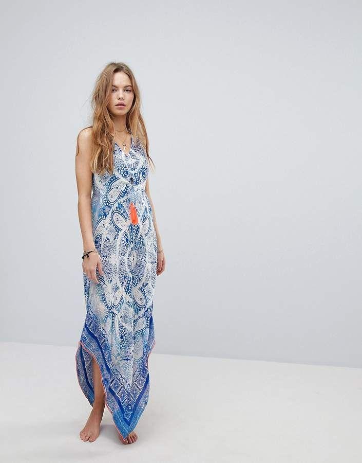 4b2ea96403 Surf Gypsy Beach Tie Dye Paisley Maxi Dress | best beach dresses ...