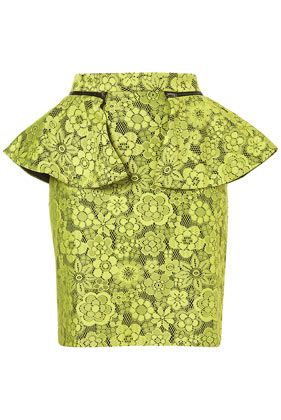 just bought this skirt :) holy hot with a gorgeous tight black shirt and some platform booties!: Limes Lace, Topshop Skirts, Pencil Skirts, Lace Peplum, Bright Skirts, Peplum Pencil, Bright Colors, Style Fashion, Peplum Skirts