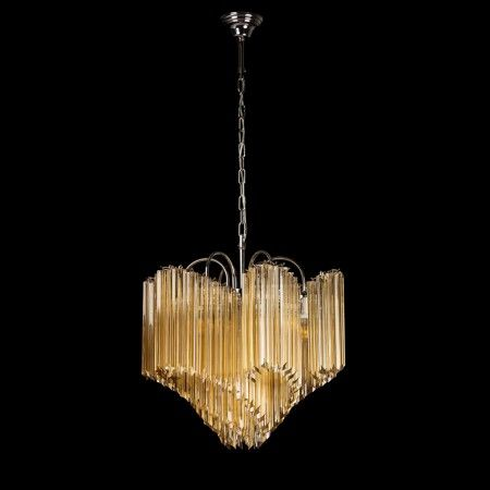 Pasolini Chandelier: Artistic #Murano's chandeleir worked exclusively by hand with the ancient art of #Venice glass masters. Each item can be customized by selecting the color and number of lights. Visit our website www.sognidicristallo.it and see all our collection!