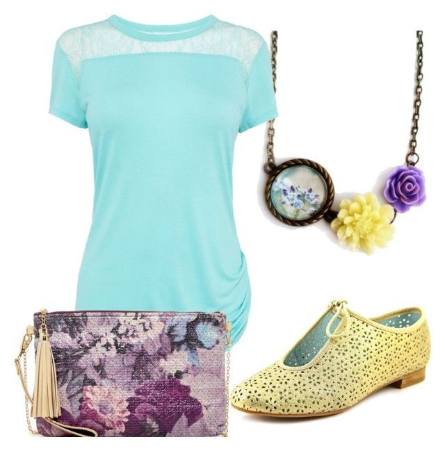 """""""Spring color"""" by hemos on Polyvore featuring Karen Millen, Seychelles and Urban Expressions"""