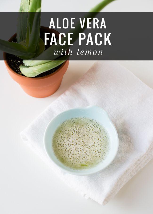 Aloe Vera Face Pack with Lemon | HelloNatural.co