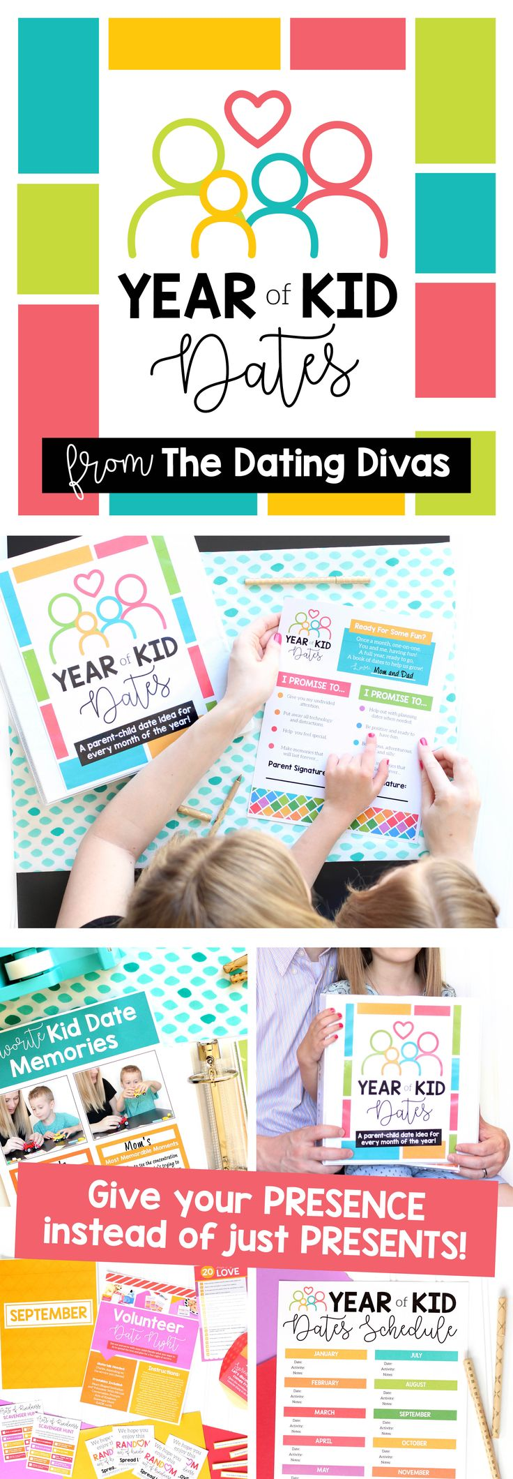 Year of Kid Dates Gift for Kids- 12 parent-child date ideas! One for every month of the whole year! LOVE THIS!!!