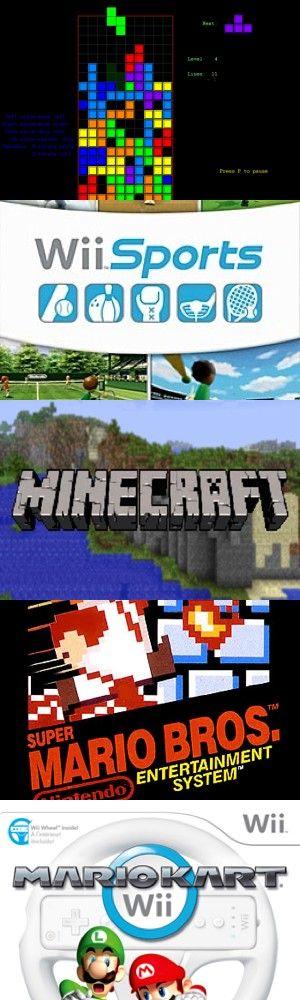 I cinque videogiochi più venduti di tutti i tempi